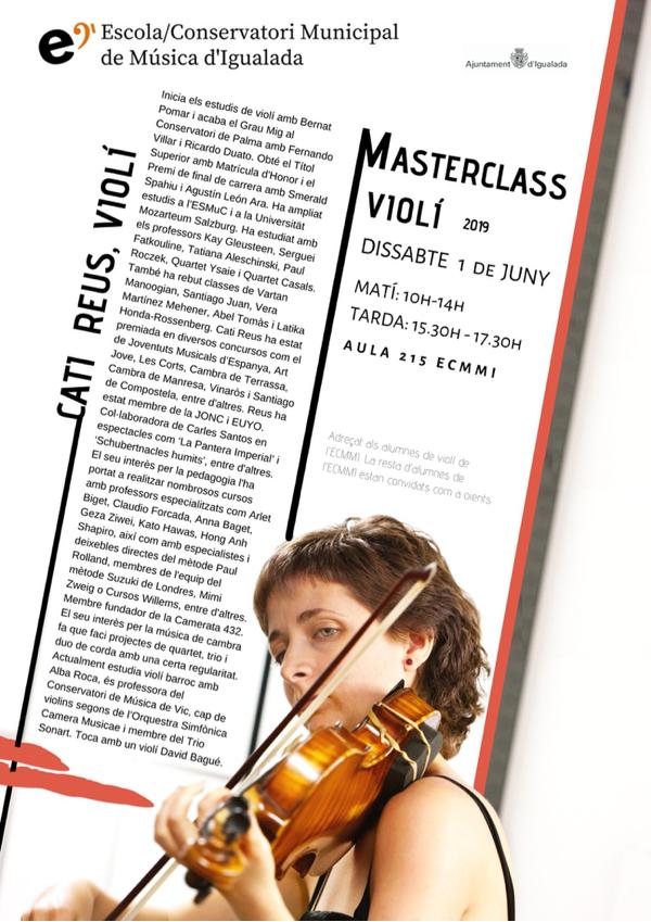 Masterclass de violí amb Cati Reus
